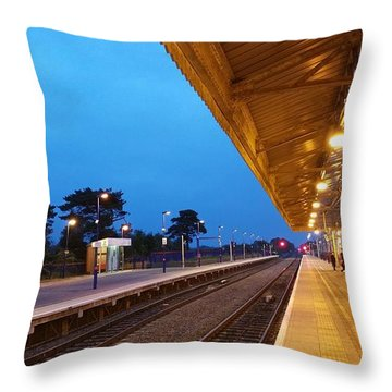 Railway Vanishing Point Throw Pillow