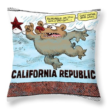 Rain And Drought In California Throw Pillow