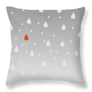 Throw Pillow featuring the painting Rain And Tears by Trilby Cole