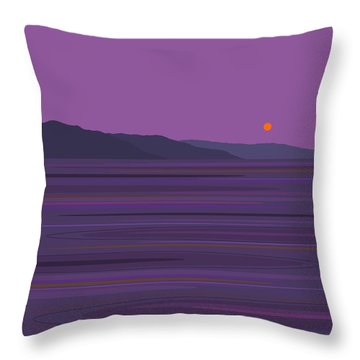 Rain At The Lake Throw Pillow by Val Arie