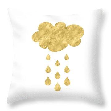 Rain Cloud- Art By Linda Woods Throw Pillow