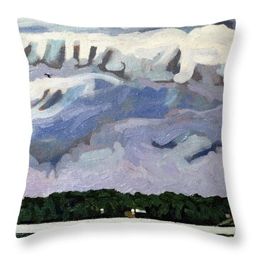 Rain Clouds Throw Pillow by Phil Chadwick
