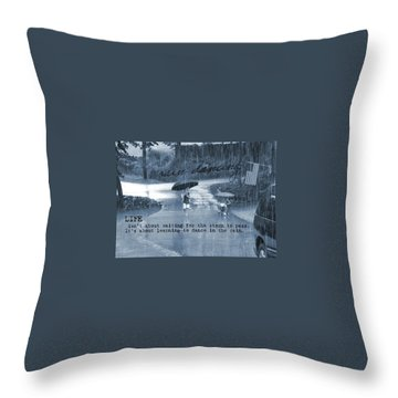 Rain Dance Quote Throw Pillow