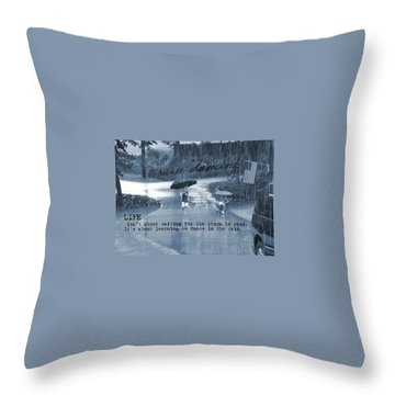 Rain Dance Quote Throw Pillow by JAMART Photography