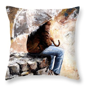 Rain Day Throw Pillow by Emerico Imre Toth