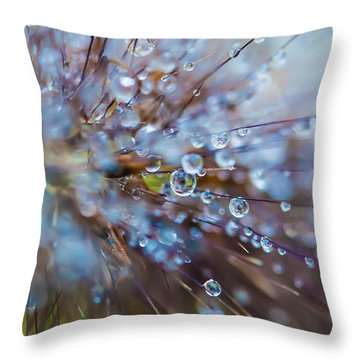 Rain Drops - 9751 Throw Pillow