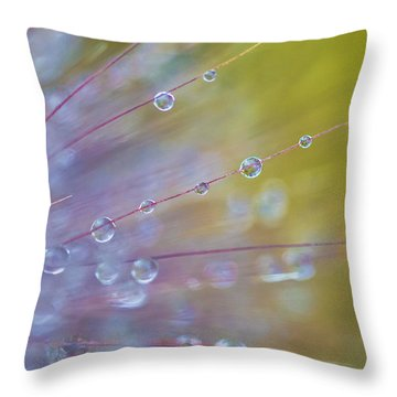 Rain Drops - 9753 Throw Pillow