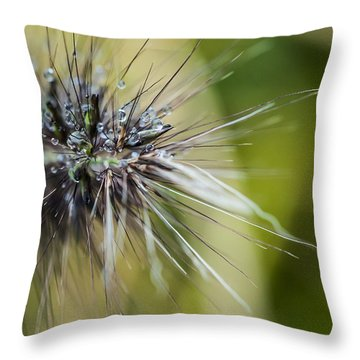 Rain Drops - 9760 Throw Pillow