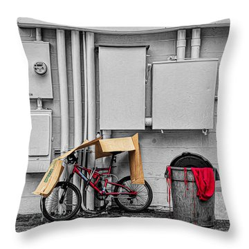 Rain Gear Throw Pillow