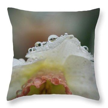 Rain In Daffodils Throw Pillow