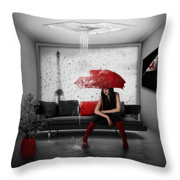 Manipulation Throw Pillows