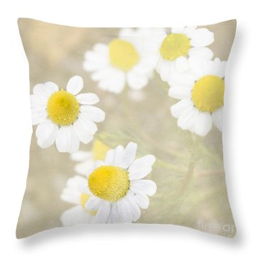 Rain-kissed Chamomile Throw Pillow