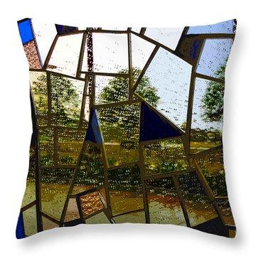 Rain On Glass Throw Pillow by David Lee Thompson