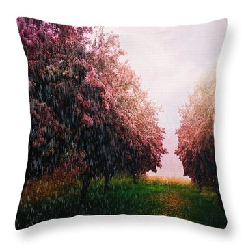 Rain On Imagination Throw Pillow