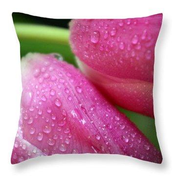 Rain On Me Throw Pillow by Linda Mishler