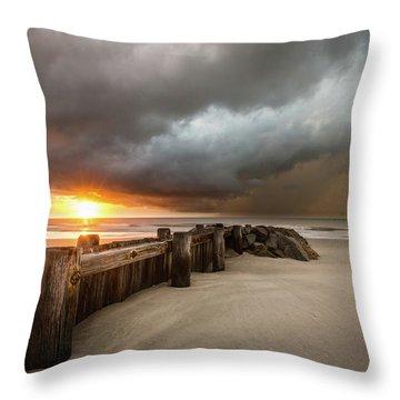 New Beginnings, Pawleys Island Sunrise Throw Pillow