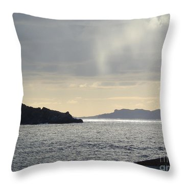 Rain Over Pelican Key Throw Pillow by Margaret Brooks