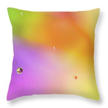 Rain Pearls Throw Pillow