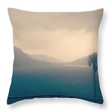 Storm Over The Sea Throw Pillow