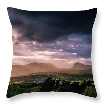 Rain Showers Over Willoughby Gap Throw Pillow