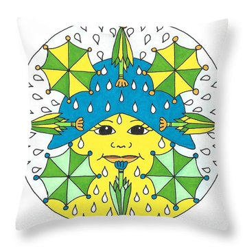 Rain Showers Throw Pillow