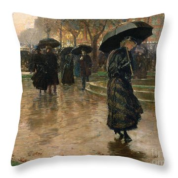Rain Storm Union Square Throw Pillow