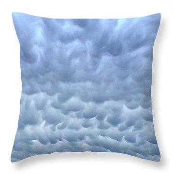 Rain Warning Throw Pillow
