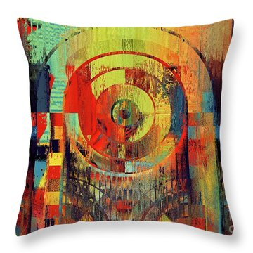 Throw Pillow featuring the digital art Rainbolo - 01t01ii by Variance Collections