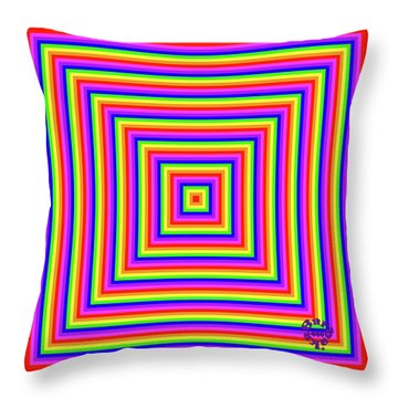 Throw Pillow featuring the digital art Rainbow #1 by Barbara Tristan