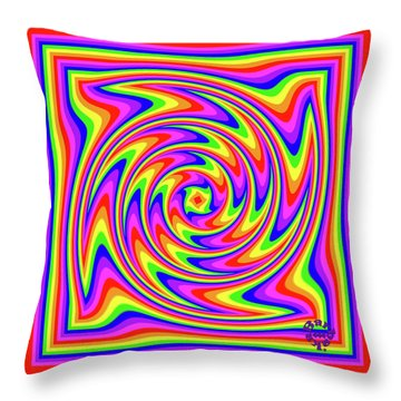 Throw Pillow featuring the digital art Rainbow #2 by Barbara Tristan