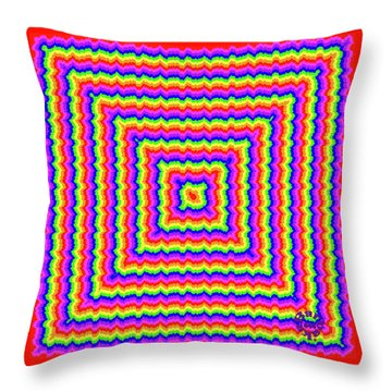 Throw Pillow featuring the digital art Rainbow #3 by Barbara Tristan