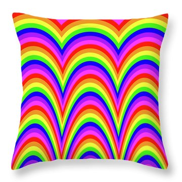 Rainbow #4 Throw Pillow