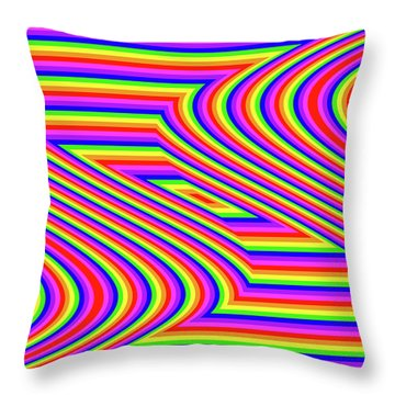 Throw Pillow featuring the digital art Rainbow #5 by Barbara Tristan