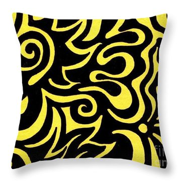 Rainbow Abstract 3 Of 6 Throw Pillow