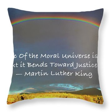 Martin Luther King - Justice Throw Pillow