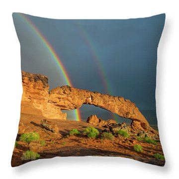 Rainbow Arch Throw Pillow