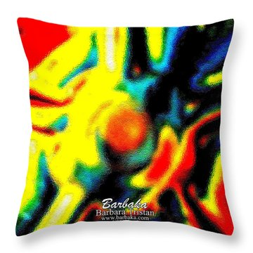 Throw Pillow featuring the photograph Rainbow Bliss #051347 by Barbara Tristan