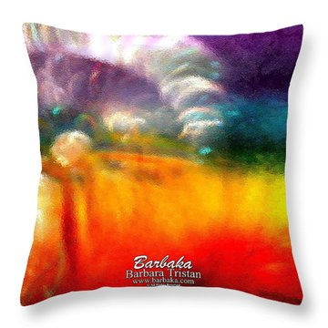 Throw Pillow featuring the photograph Rainbow Bliss #052833_ii by Barbara Tristan