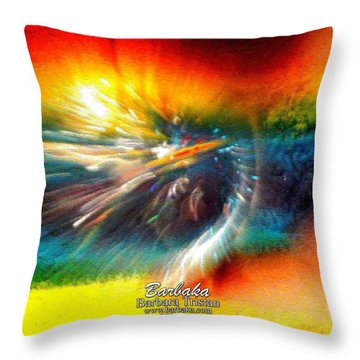 Throw Pillow featuring the photograph Rainbow Bliss #053329 by Barbara Tristan
