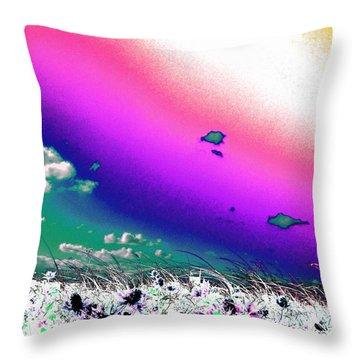 Rainbow Borealis Throw Pillow