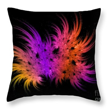 Rainbow Bouquet Throw Pillow