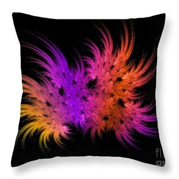 Rainbow Bouquet Throw Pillow