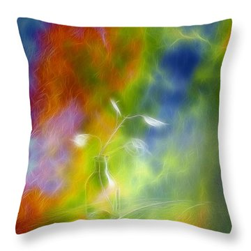 Rainbow Bridge Throw Pillow by Veikko Suikkanen