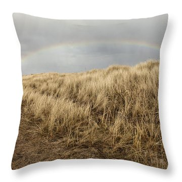 Rainbow By The Seaside Throw Pillow