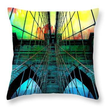Rainbow Ceiling  Throw Pillow