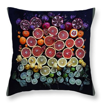 Rainbow Citrus Etc Throw Pillow
