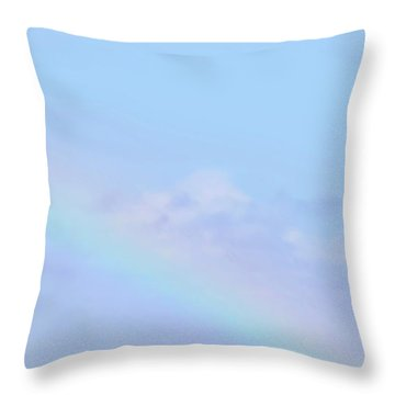 Throw Pillow featuring the digital art Rainbow Clouds And Sky by Francesca Mackenney