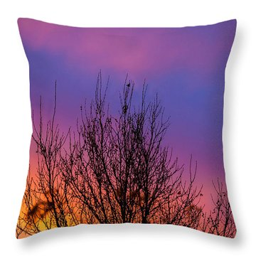 Rainbow Clouds Throw Pillow