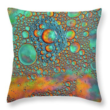 Rainbow Color Flow Throw Pillow by Bruce Pritchett