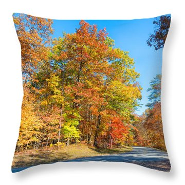 Rainbow Colored Drive Throw Pillow